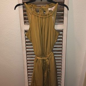 Loft halter dress, yellow, mustard, NWT, M